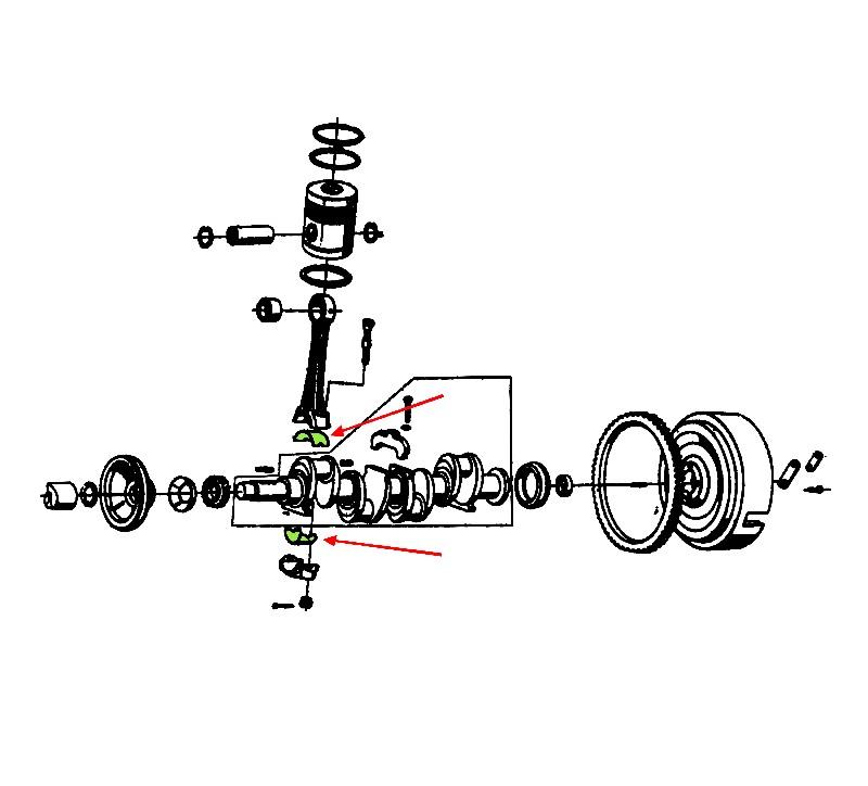 CB00-165 Komplet panewek korbowodowych N000 nominał